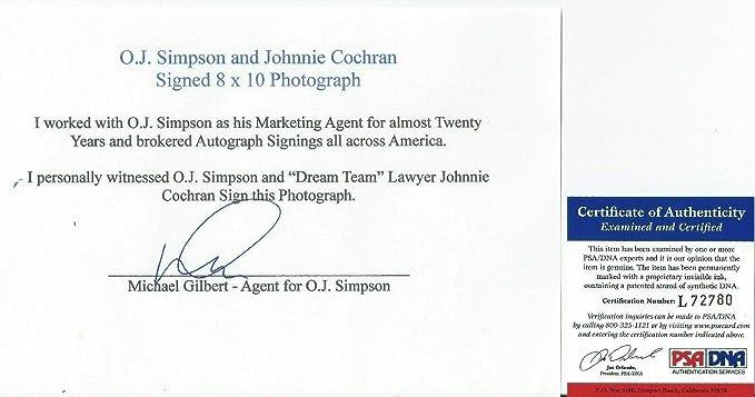 OJ SIMPSON /& JOHNNIE COCHRAN Autographed 8x10 Signed Photo REPRINT