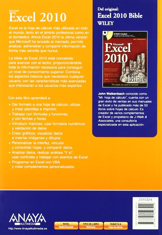 Excel 2010 / Microsoft Excel 2010 Bible (La Biblia / The Bible ...