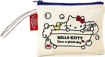 f26eaef096d4 Hello Kitty Canvas Flat Pouch  White