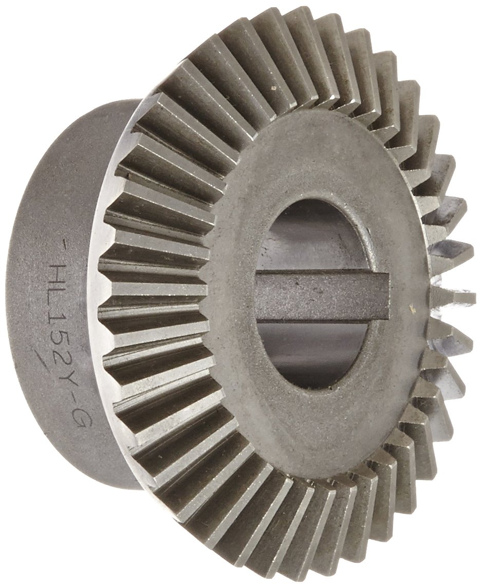 Boston Gear HL152Y-G Bevel Gear, 2:1 Ratio, 1.000'' Bore, 12 Pitch, 36 Teeth, 20 Degree Pressure Angle, Straight Bevel, Keyway, Steel with Case-Hardened Teeth by Boston Gear