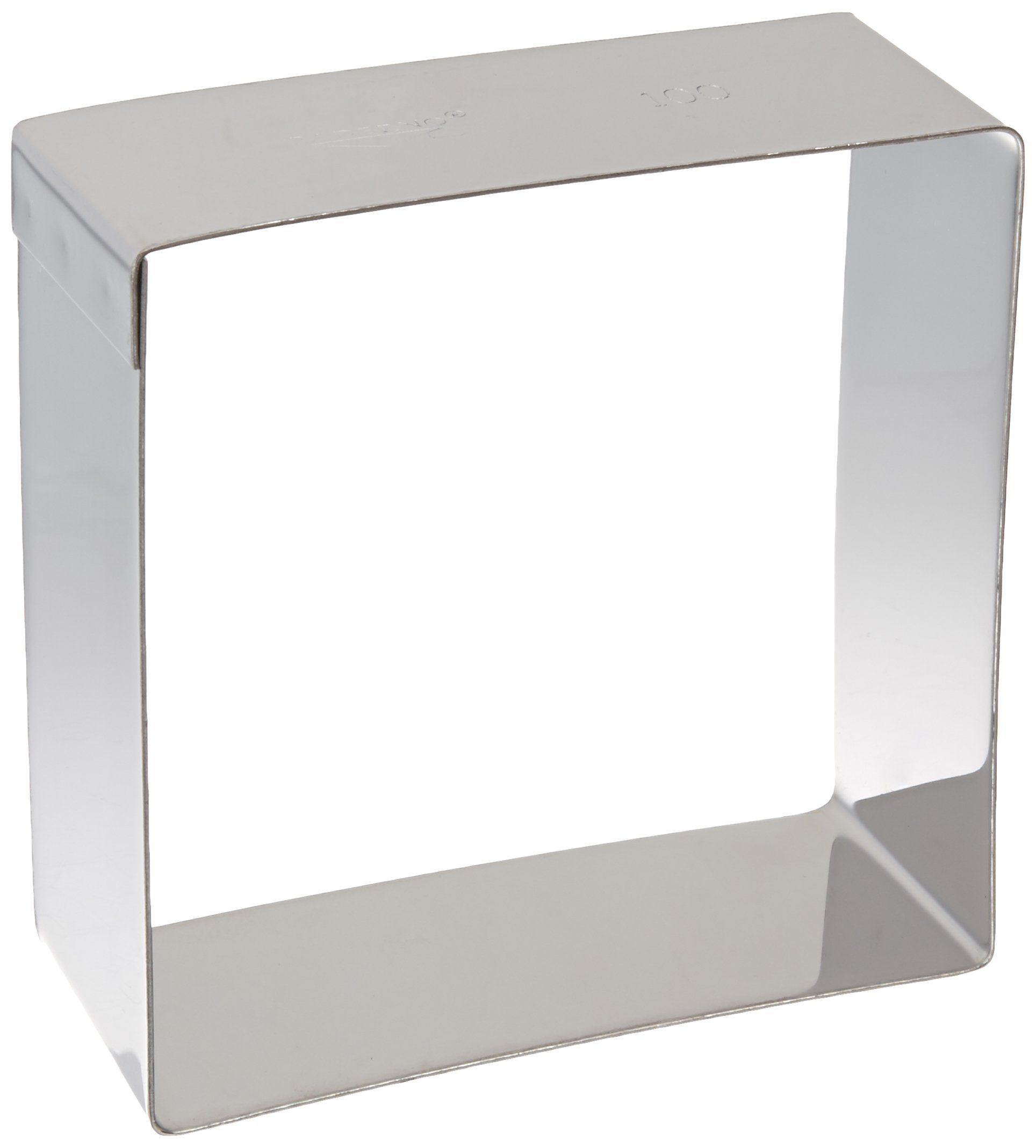 Paderno World Cuisine Stainless Steel 4-Inch Square Pastry Ring