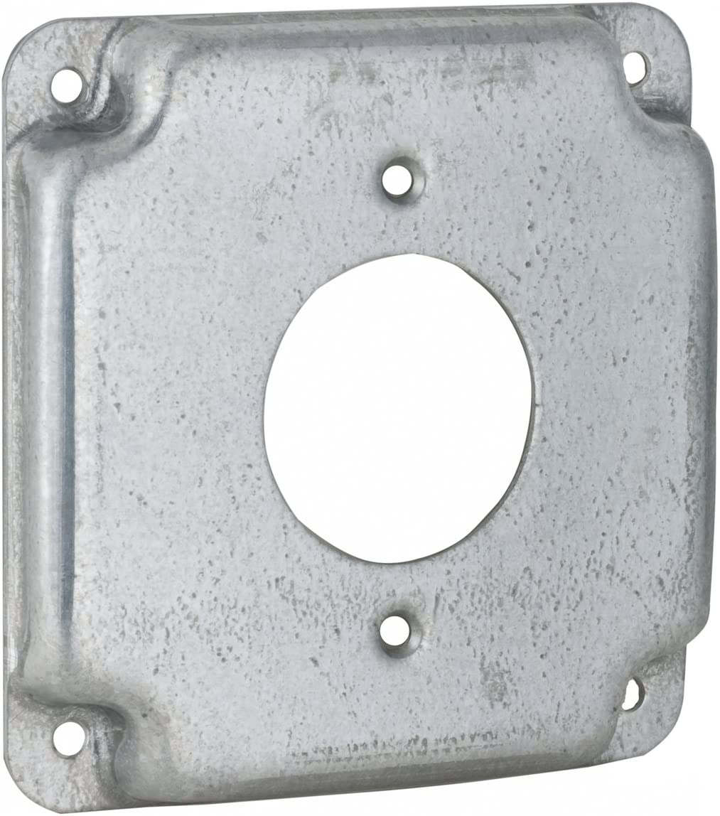Raco 810C 30-50A Receptacle 2.141-Inch Diameter 4-Inch Square Exposed Work Cove