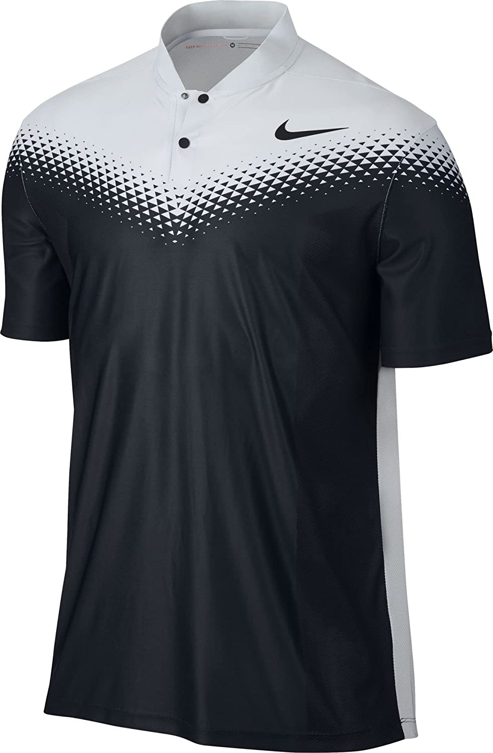 Nike Golf Men's 2017 TW Zonal Cooling Fade Blade Polo (Black/White ,Small):  Amazon.co.uk: Sports & Outdoors