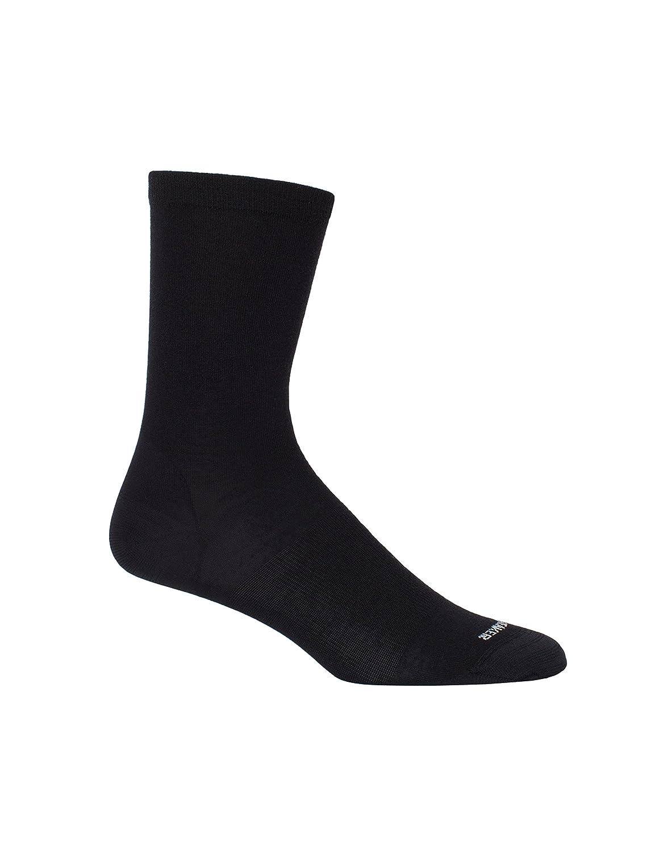 Icebreaker 103219 Womens Lifestyle Fine Gauge Ultra Light Crew Socks, Black, One Size 104186