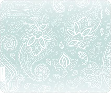 Juniwords Mousepad Mauspad Mit Motiv Weiße Schnörkel Mint Bürobedarf Schreibwaren