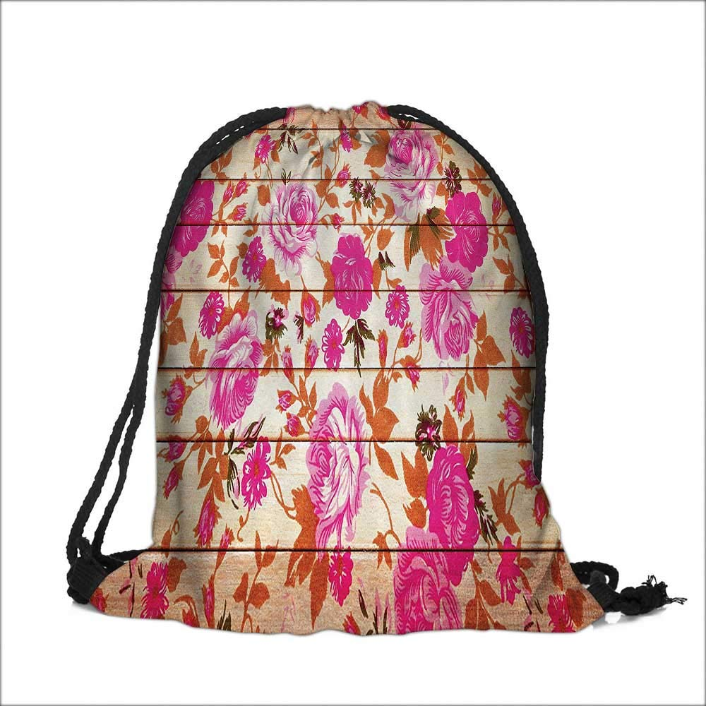 Thick Drawstring Pocket Roses and Lilies with Soft Bright Colors Nature Blooms Springtime with Drawstring Closure 12W x 17.5H Auraisehome SKD-16-0820-07596K30.5xG44.5