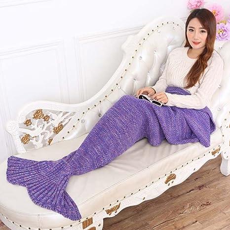 topist sirena manta manta cola de sirena de patrones para tejer manta para niños y adultos. Pasa ...