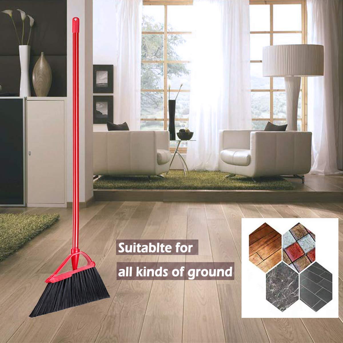 Angle Broom Dustpan Set Rubber Lip Detachable Hand Broom Indoor Outdoor Floor Sweeper Lobby Kitchen Patio Garden Garage Shop Hair Salon by Iamagie (Image #6)