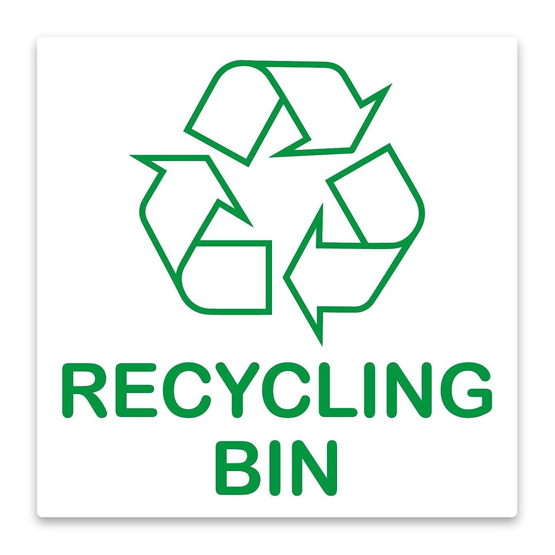 Logo de recyclage autocollant pour poubelle