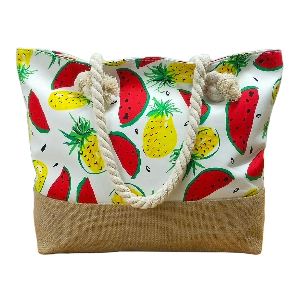 We We Fashion Beach Bag Waterproof Canvas Tote Straw Bag - Large We We Denim Jeans Beach Bag Handmade Duffel Bag