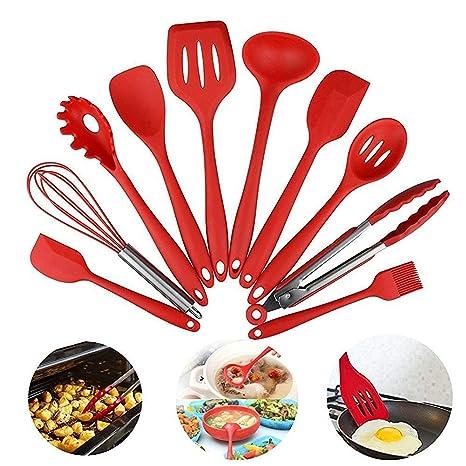 Set di utensili da cucina in silicone, set di pentole da cucina ...