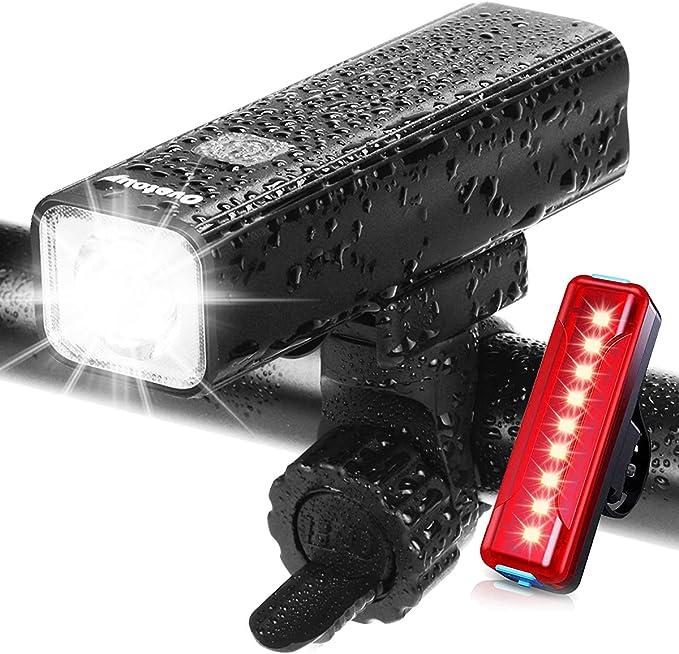 1x300LM noir Mode 3 LED vélo avant lumineux Rechargeable Super Bright Lampe USB