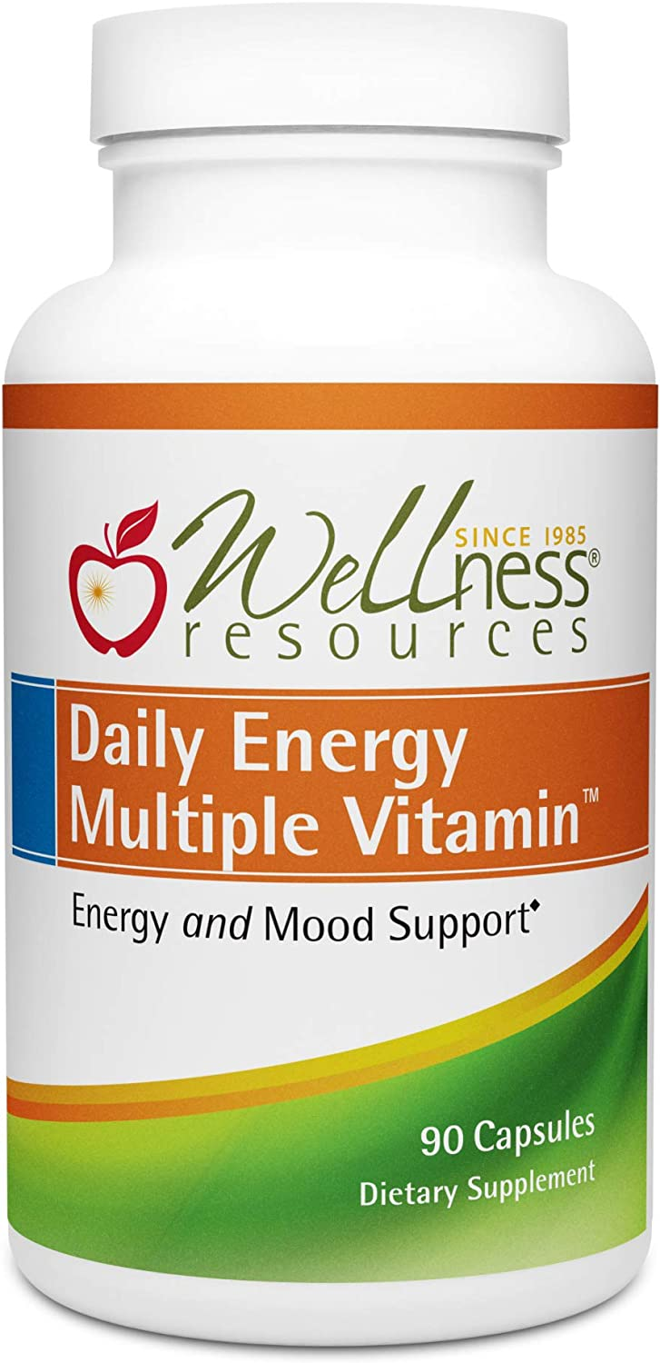 Daily Energy Multiple Vitamin – Highest Quality Multivitamin for Energy, Stress, Mood with Coenzyme B Vitamins and MethylFolate 90 Capsules