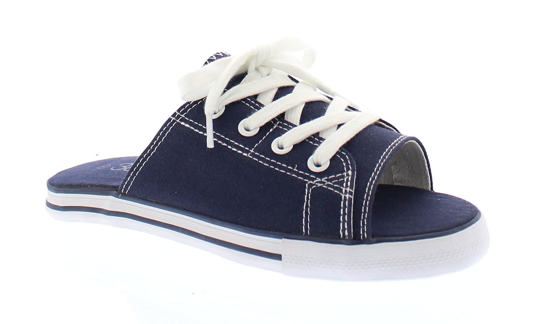 Ace Womens Summer Beach Sandal,Slip On Flat Canvas Sandals,Open Toe Slides for Women,Ladies Cute Flipflop B077X1BLHR 10 B(M) US Navy