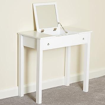 Hartleys Bedroom Dressing Table with Folding Vanity Mirror: Amazon ...