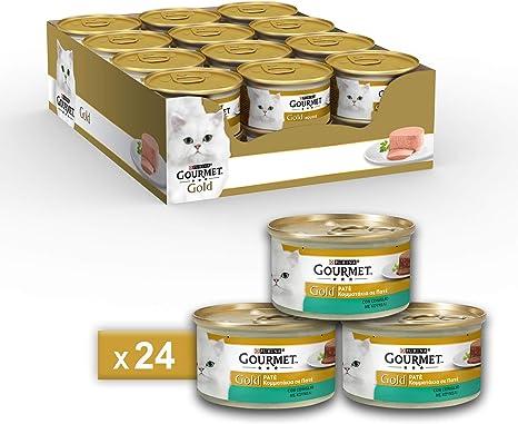 Gourmet Gold fuagrás para el Gato, con Conejo, 85 g – Pack de 24 ...