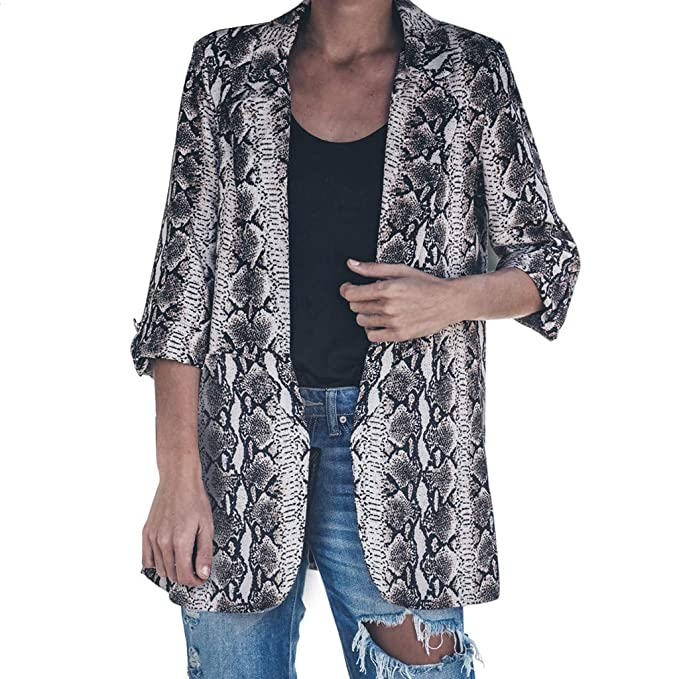 Amazon.com: YUEZIHUAHUA Women Coats Womens Jackets Snake ...