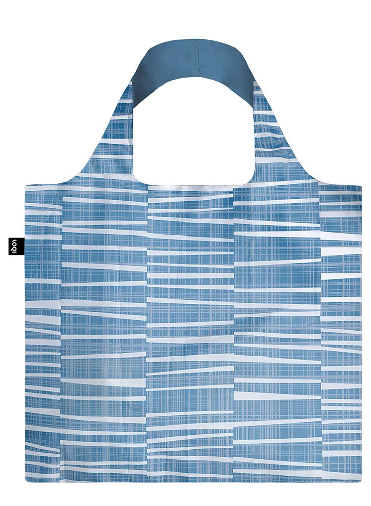 LOQI Reusable Tote Bag, Water Print, Multi-Colored Print, International Carry-on Fashion Imports EL.WA