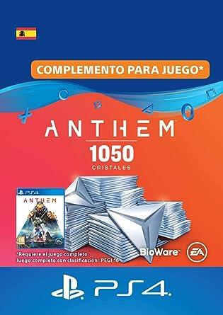 Pack de 1,050 cristales de Anthem | Código de descarga PS4 ...