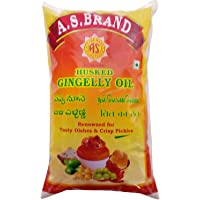 A.S.Brand Cooking Oil - Husked Gingelly, 1L Pouch