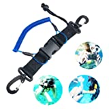 Kang Yuan Diving Lanyard Spring Coiled Lanyard with Quick Release Buckle for Cameras and Dive Lights
