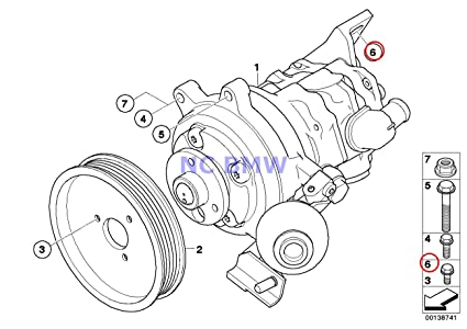 Amazon Com Bmw Genuine Power Steering Pump Fillister Head Screw