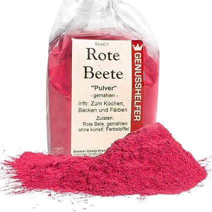 Rote Beete Pulver 100 Gramm Gemahlen Natürliche Lebensmittelfarbe