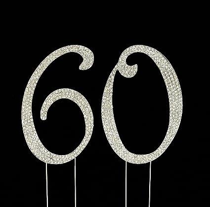 Amazon Large 60th Birthday Wedding Anniversary Number Cake
