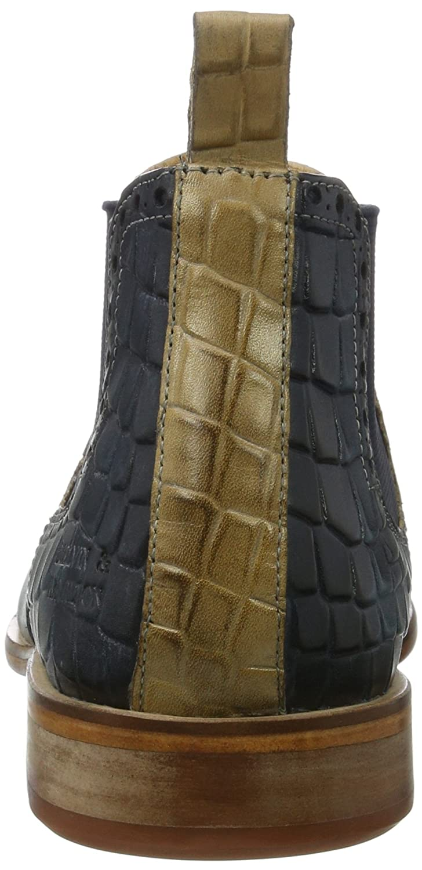 MELVIN & HAMILTON MH HAND MADE SHOES OF CLASS Herren Blau Erol 11 Chelsea Boots Blau Herren (Venice / Venice Perfo / Crock Mid Blue / Beige / Mid Blue Ela. Navy Ls-nat.) 905b59