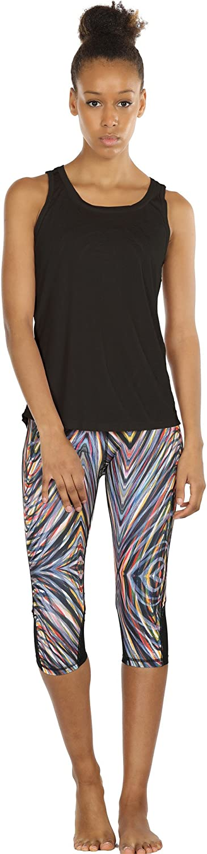 icyzone Damen Workout Yoga Tank /ärmellos Shirt Strappy Sport Fitness Tank Tops 2er Pack
