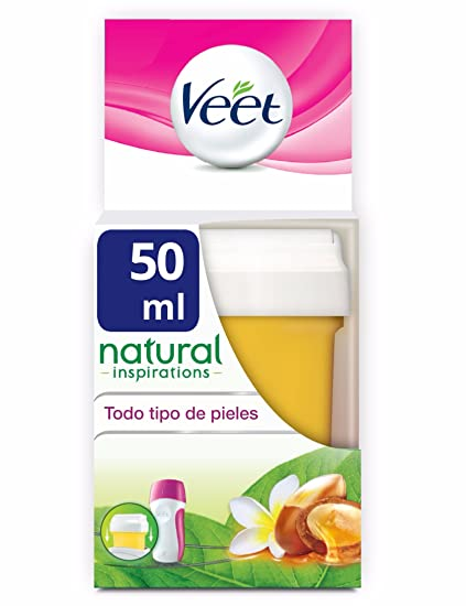 Veet Cera Depilatoria EasyWax Recambio Roll-on Eléctrico, 50ml