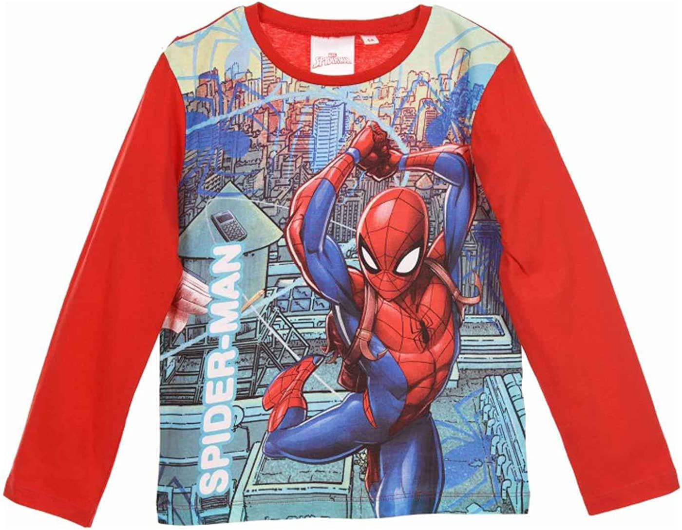 Marvel Spiderman Boys Top T-Shirt Age 2,3,4,5,6,7,8,9 Years