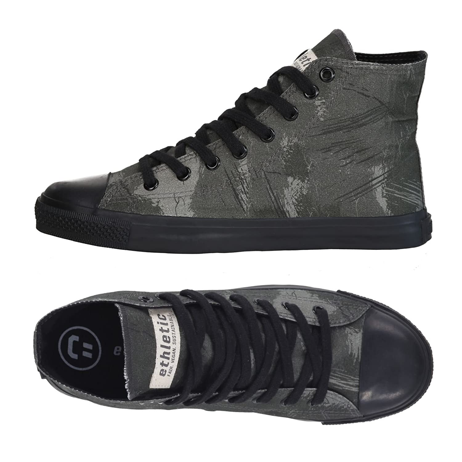Ethletic Sneaker Vegan Hicut Collection 18   Farbe Dove Camo Olive/Black Aus Bio Baumwolle