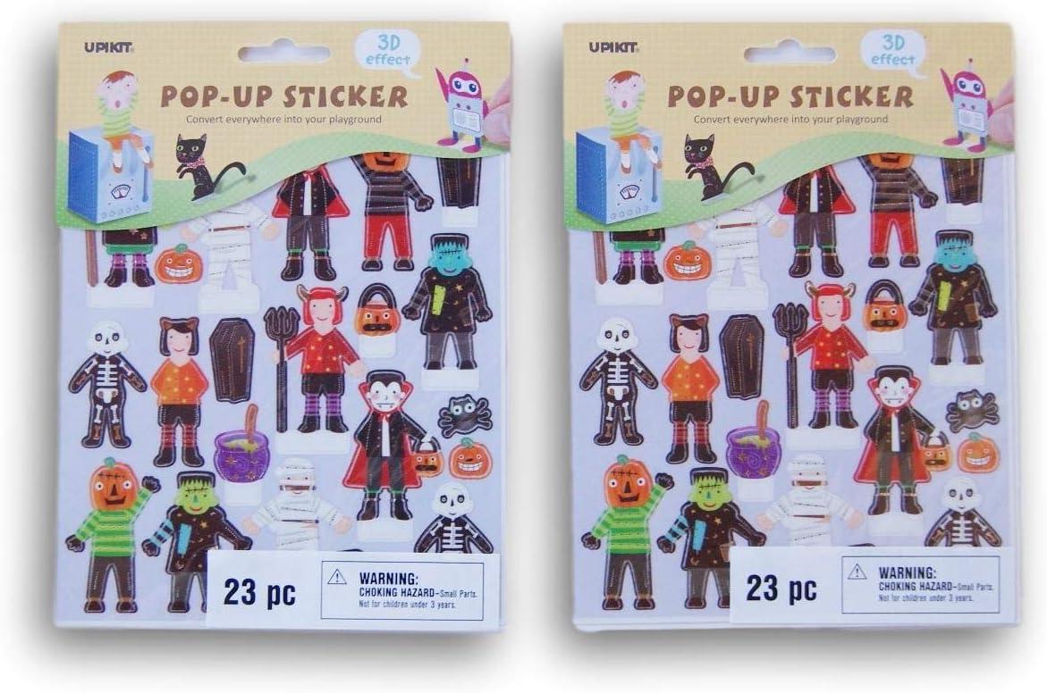 46 Count Halloween 3D Effect Pop Up Reward Sticker Set