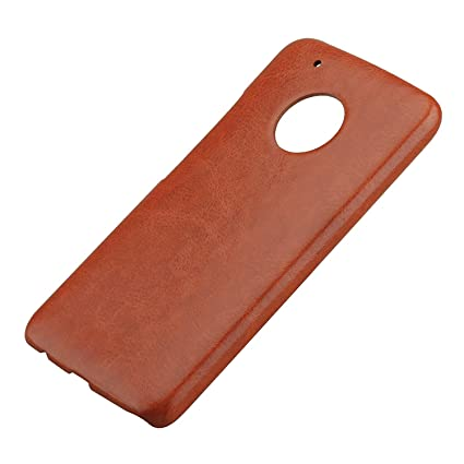 online retailer 2ba9c 6062f for Moto G5 Plus Leather Back Cover SDO Original PU: Amazon.in ...