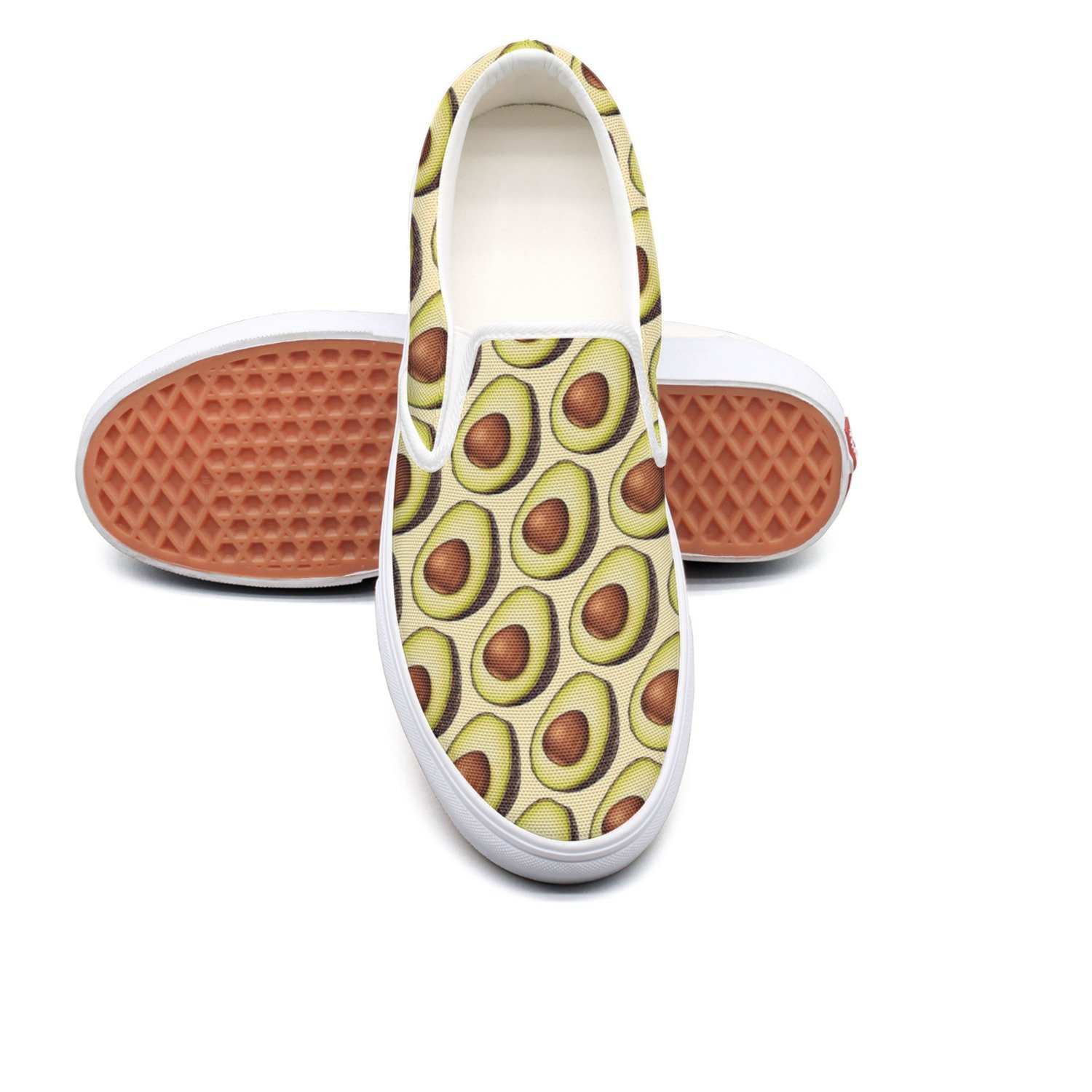 seventtynine Love Avocados Classic Men's Canvas Slip-Ons Loafer Shoes Sneaker