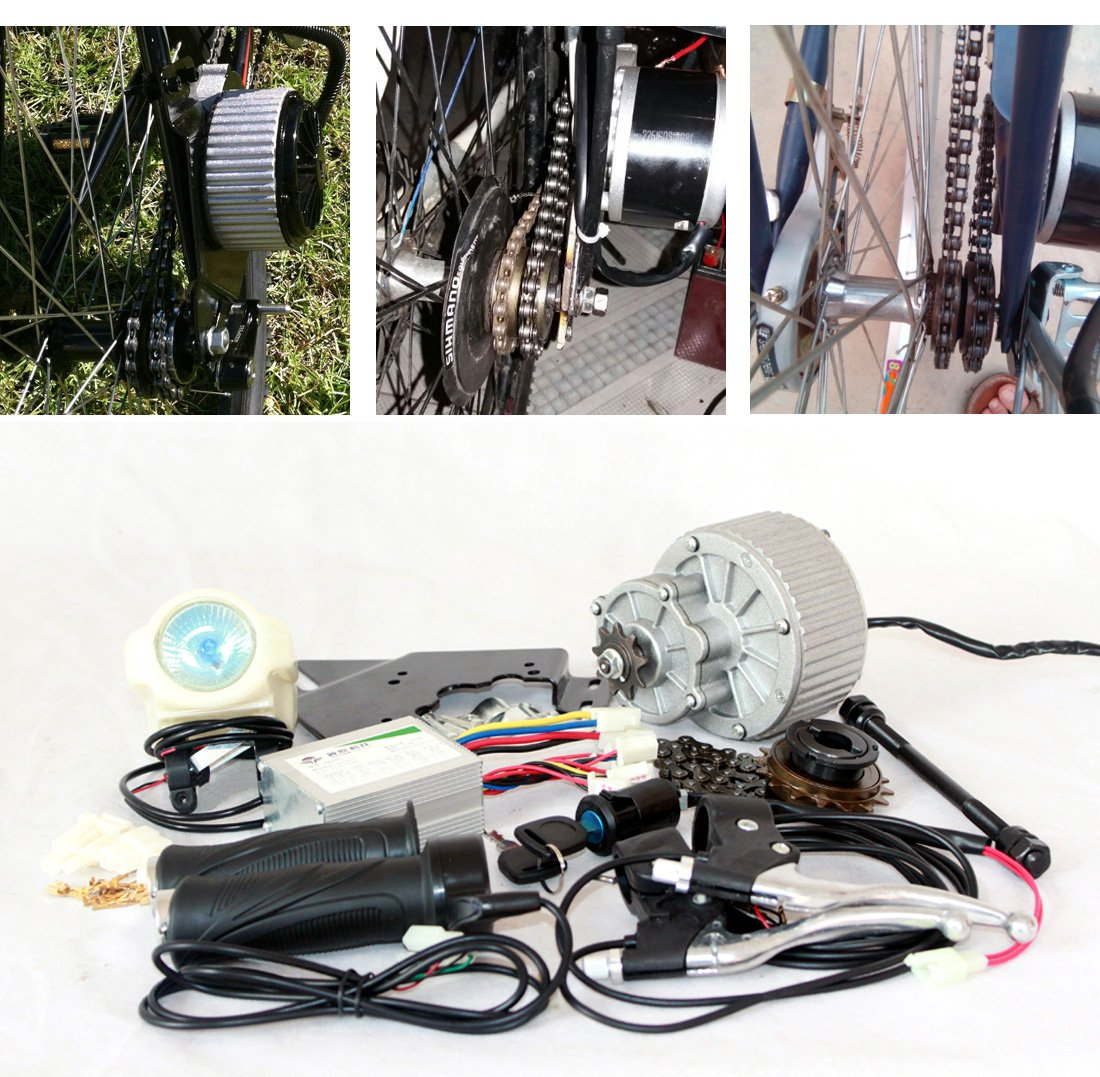 24v36v 450ワット電気モーターキット電動スクーターバイクモーターgngebikeモーターキット希土類モーターmy1018 (サイドマウント) [並行輸入品] B077QCPYPM 36V450W