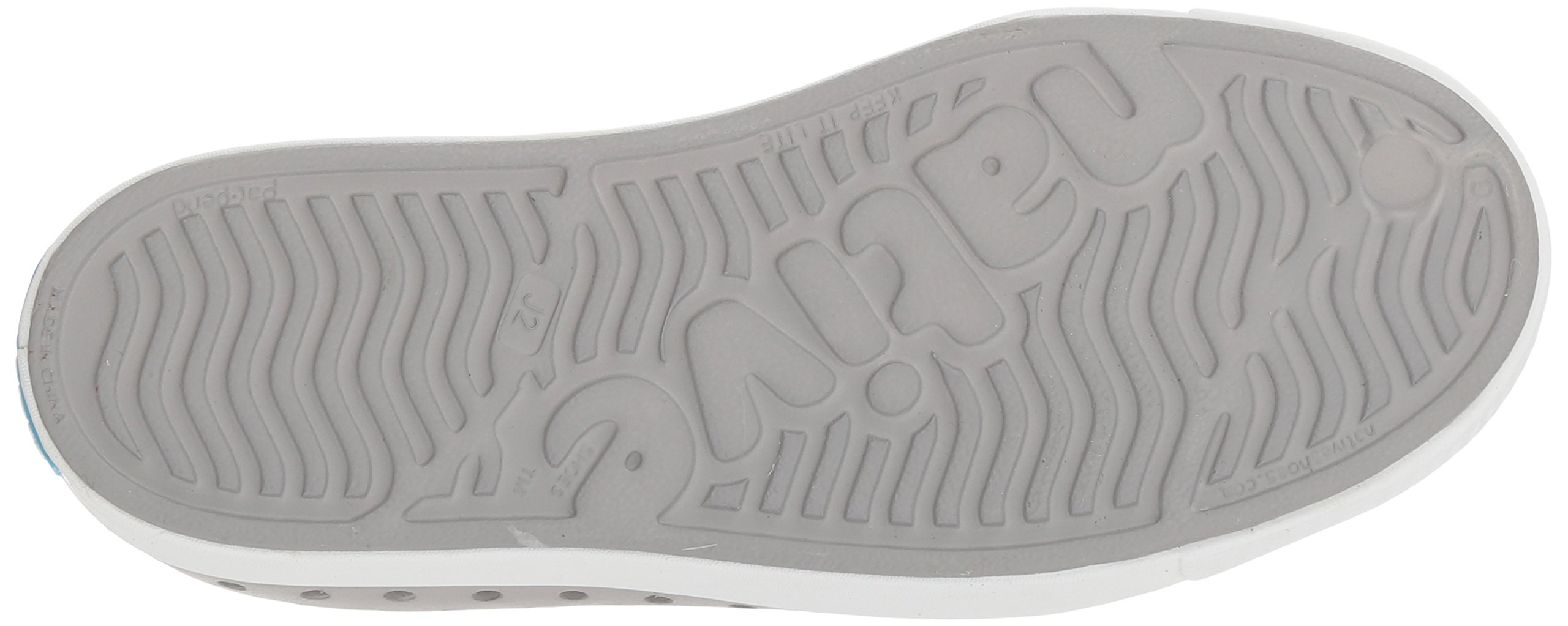 Native Kids Jefferson Junior Water Proof Shoes, Pigeon Grey/Shell White, 2 Medium US Little Kid by Native Shoes (Image #3)