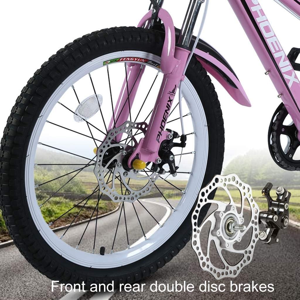 YJTGZ Fahrr/äder Kinder-Mountainbike Outdoor-Kinder-Reiserad Outdoor-Mountainbike Geeignet Sommersportrad Sch/ülerfahrrad Geschwindigkeit Einstellbar Color : Wei/ß, Size : 20inch