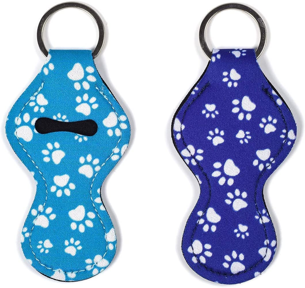 koboome 8 Pack Neoprene Wristlet Keychain Lanyard Neoprene Key Chain Holder to Match Chapstick Holder Keychain