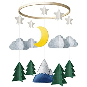 Baby Crib Mobile by Giftsfarm, Starry Woodland Night Nursery Decoration, Crib Mobile for Boys and Girls