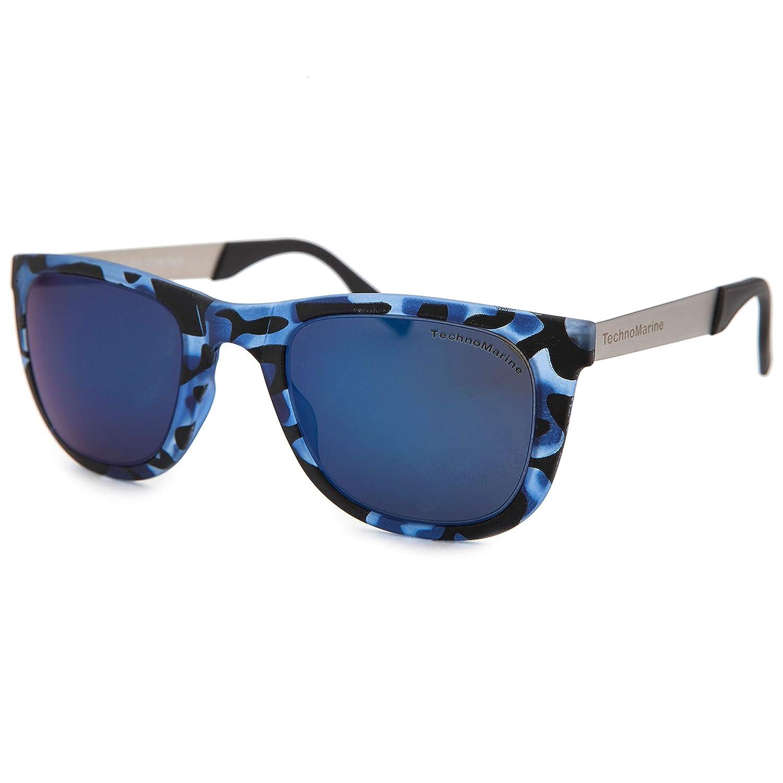 29b58e2ec91 Amazon.com  Techno Black Reef Sunglasses Camo Blue Frame TMEW001-06  Watches