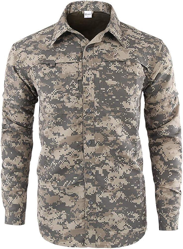 Hombre Militar Táctica Camisa al Aire Libre Airsoft Ejercito ...