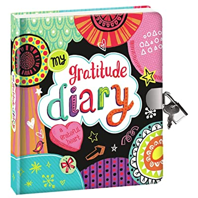 "Peaceable Kingdom 'My Gratitude' 6.25"" Lock and Key, Lined Page Diary for Kids: Toys & Games"