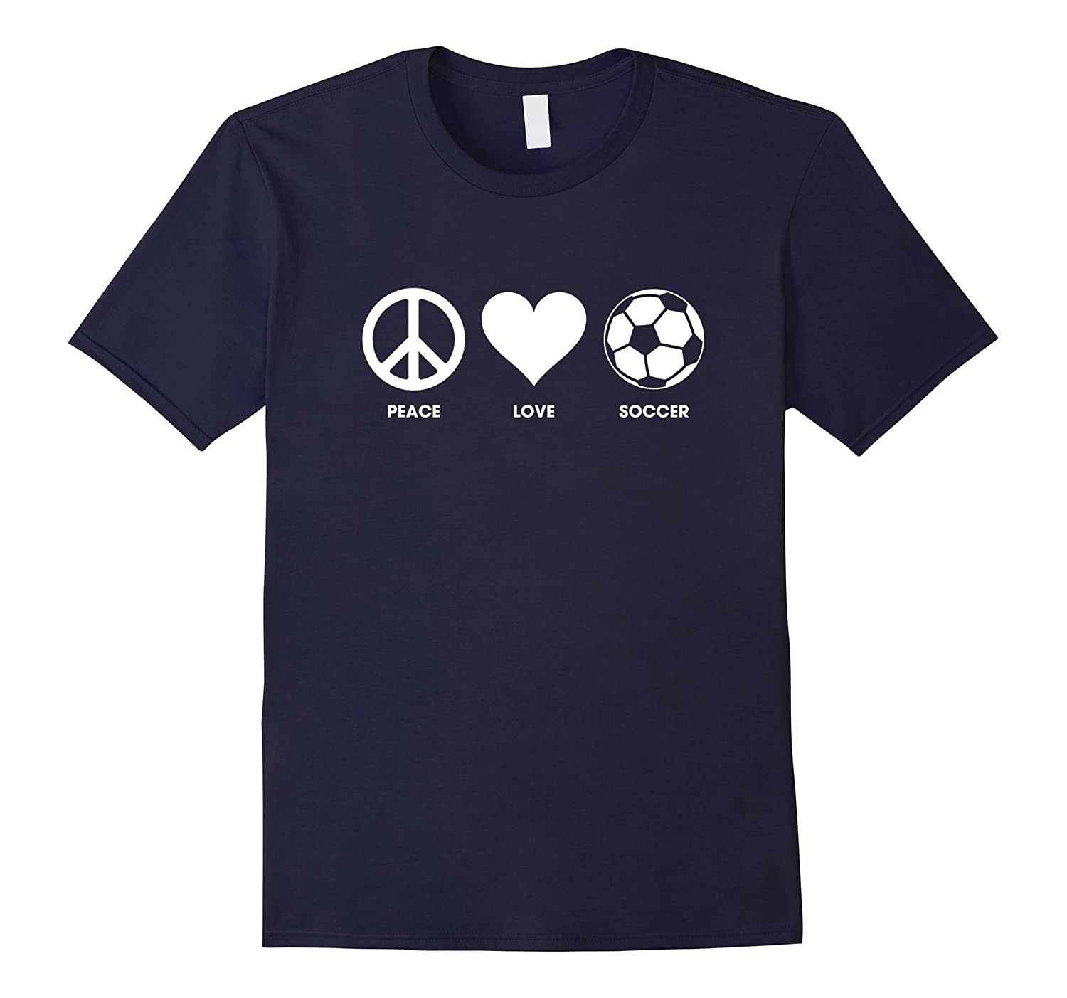 Peace Love Soccer T-shirts - Shirts for Soccer Players-RT