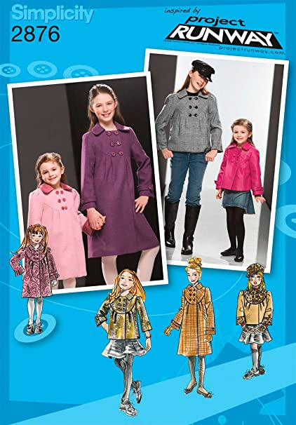 Simplicity Sewing Pattern 2876 Child/Girl Jackets and Coats, HH (3-4