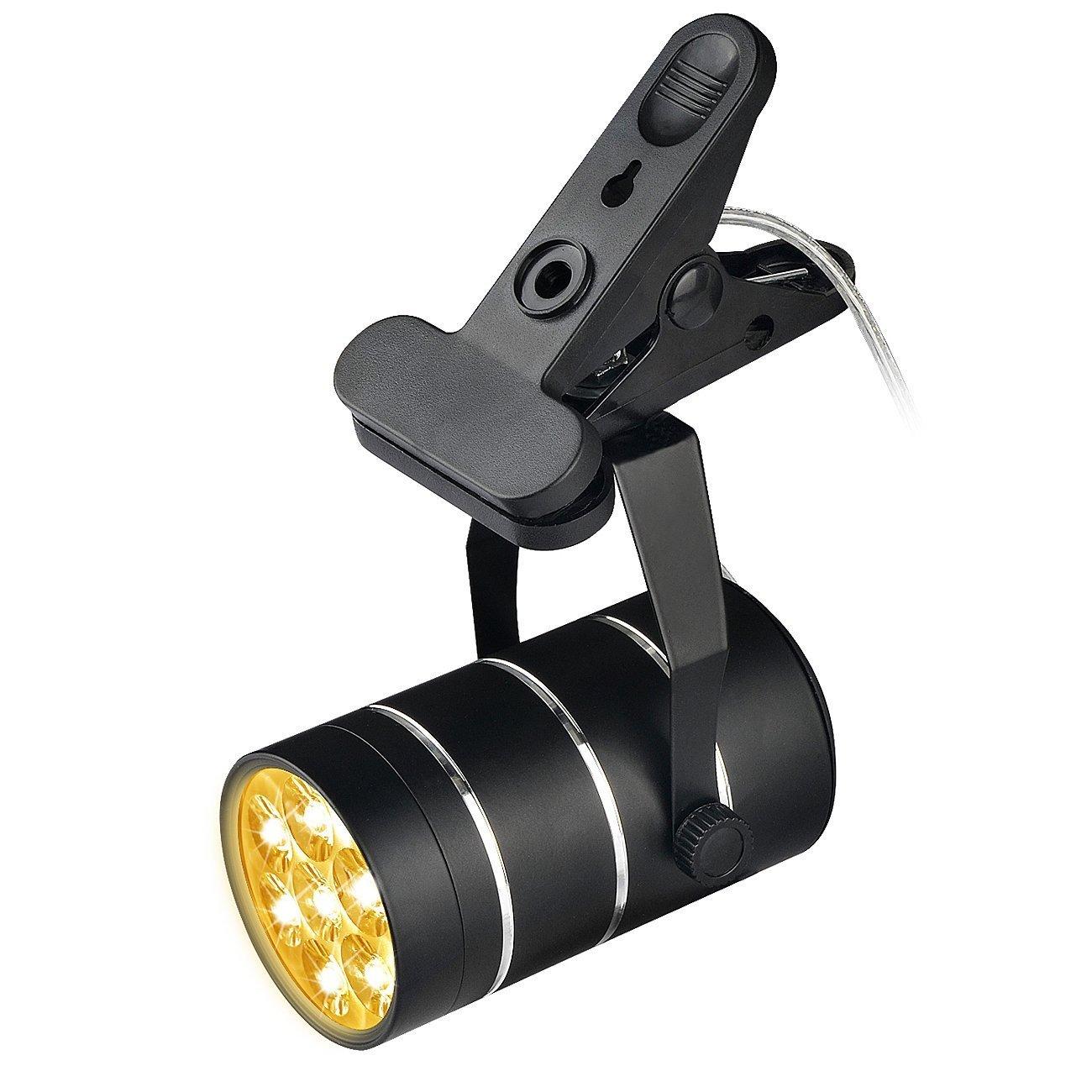Aokey LED Lámpara de Plantas 9W Luz de Proyección Ajustable con Robusto Abrazadera Base 360 ° Distancia para Crecimiento de Vegetación Interior en ...