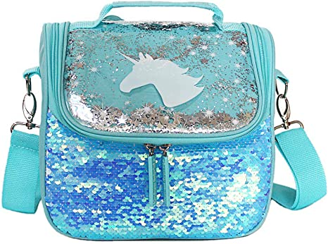 Great for School Girls or Boys Shark Lunch Bag Lunch Box Set Include 3D Insulated Cooler Bag /& Leakproof Water Bottle Pineapple Ice Pack Multipurpose Spork Spoon Silicone Cups Salad Box