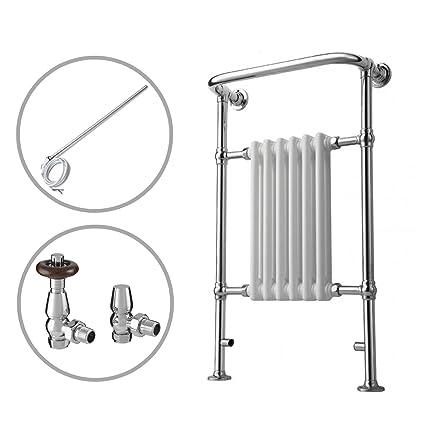 ENKI radiador para calefacción termostático toallero doble combustible 963x583mm