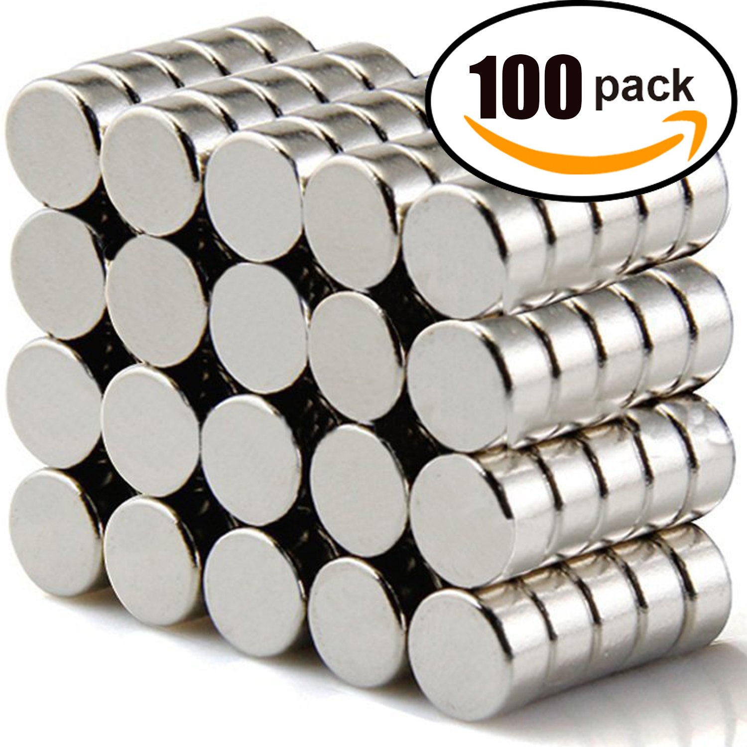 DIYMAG Refrigerator Magnets, 6x3 mm Round Cylinder Magnets Perfect Magnetic Push Pins, Office Magnets, Dry Erase Board Magnetic pins, Map Pins & Bonus 6-3 100P